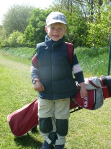 Konstantin von Horsten, der derzeit jüngste Golfer auf unserer Anlage